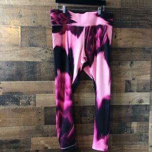 Champion Pink Print Legging Yoga Pants NWT